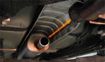 Photo of where a catalytic converter should be